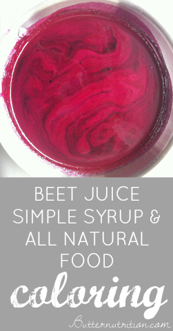 Beet Juice Simple Syrup & All Natural Food Coloring | Butter Nutrition