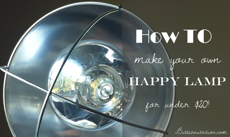 DIY Happy Lamp for Light Therapy (under $20) | Butter Nutrition