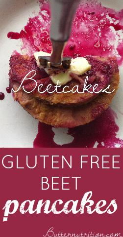 Gluten Free Beet Pancakes | Butter Nutrition