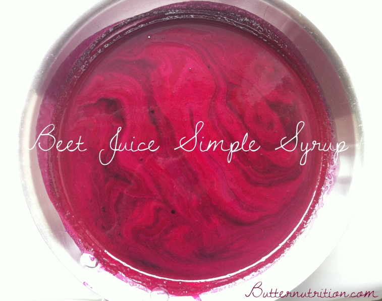 Beet Juice Simple Syrup