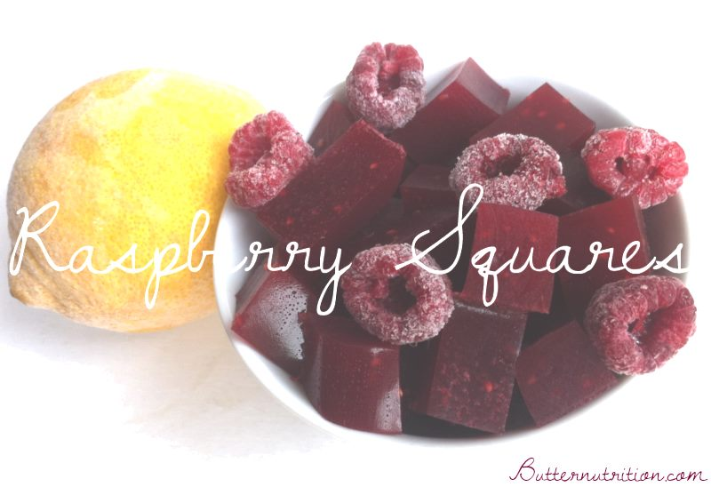 DIY Raspberry Fruit Snacks with Gelatin | Butter Nutrition