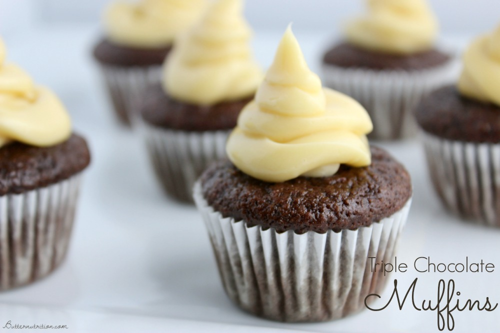 Triple Chocolate Muffins (gluten/grain free) | Butter Nutrition