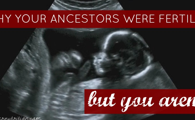 Why your ancestors were fertile… but you aren't.
