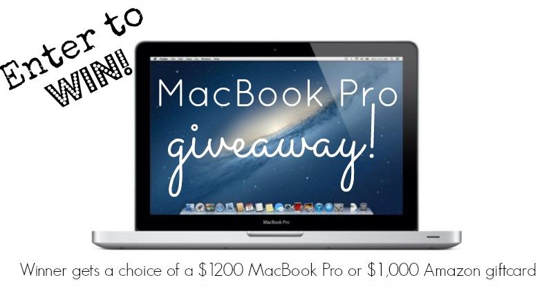 Win a MacBook Pro in January 2014 worth $1200!   Butternutrition.com