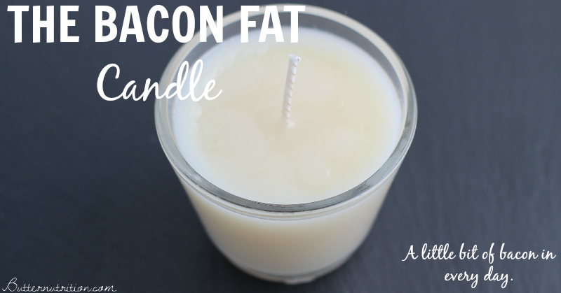 The Bacon Fat Candle: A little bit of bacon in every day