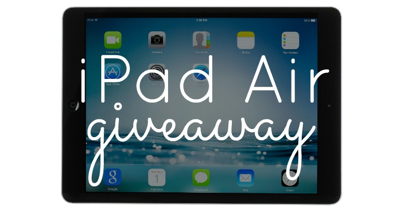 August 2014: iPad Air Giveaway