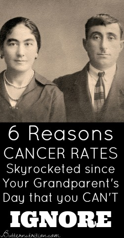 6 Reasons Cancer Rates have Skyrocketed since Your Grandparent's Day that you CAN'T Ignore | Butter Nutrition