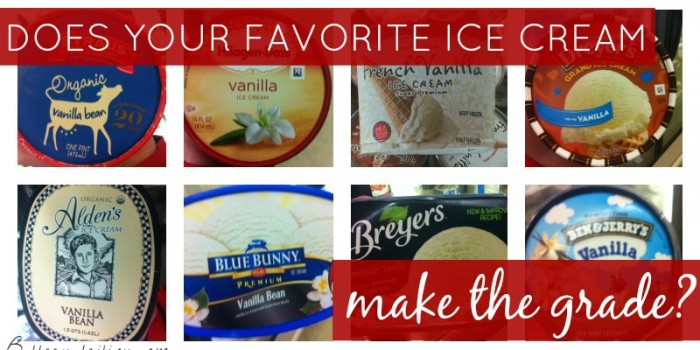 Does your ice cream make the grade? | Butter Nutrition