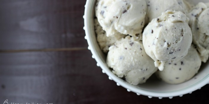 Chocolate Chip Mint Ice Cream with Coconut Milk