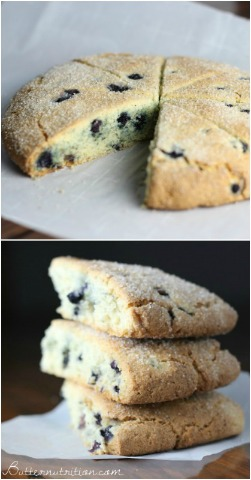 Gluten Free Scones with Blueberries | Butter Nutrition