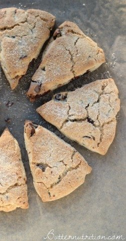Gluten Free Scones With Chocolate Chips | Butter Nutrition