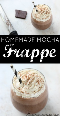 Homemade Mocha Frappe Recipe With Coconut Milk   Butter Nutrition