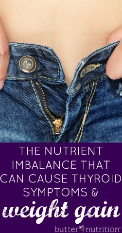 The Nutrient Imbalance that can cause Thyroid Symptoms, Fatigue + Weight Gain | Butter Nutrition