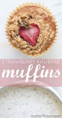 Gluten Free Strawberry Rhubarb Muffins | Butter Nutrition